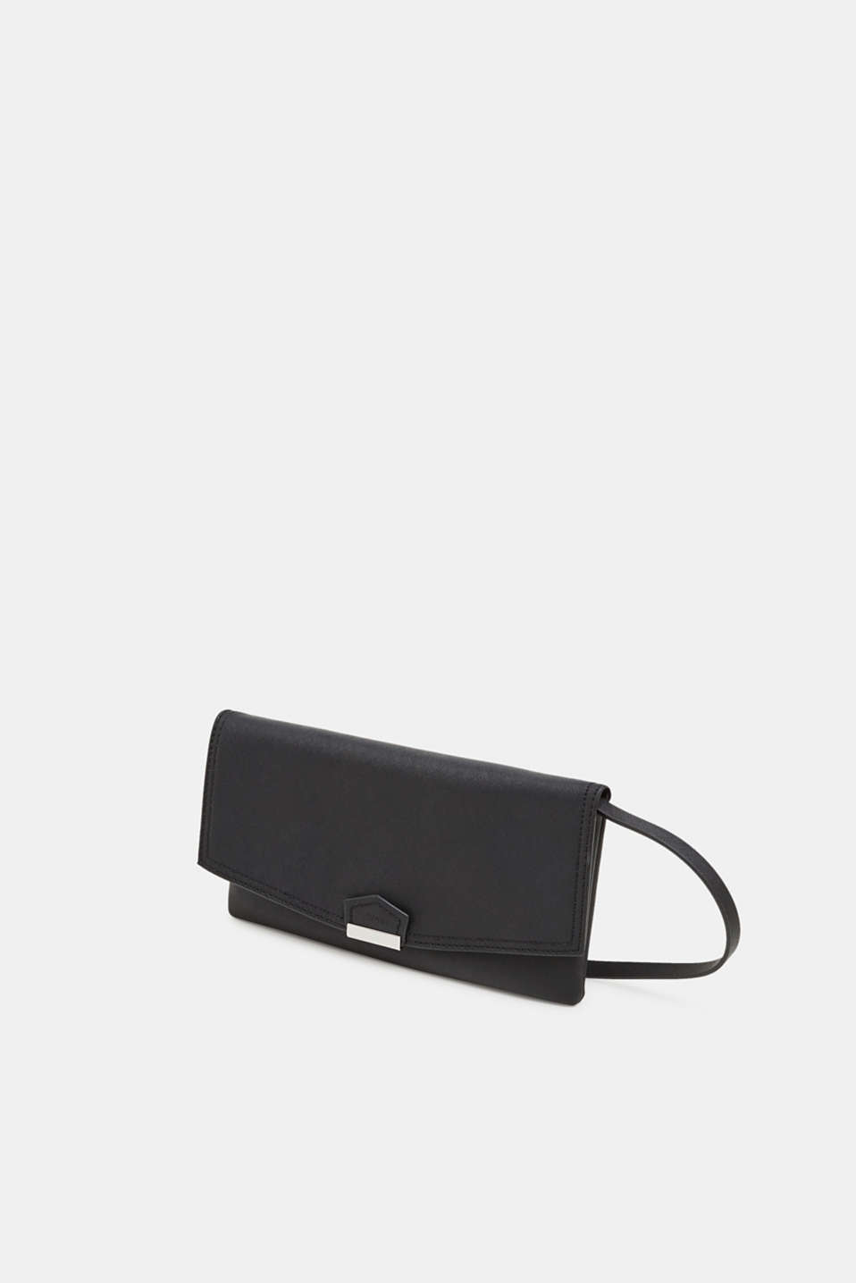 Faux leather clutch, BLACK, detail image number 2