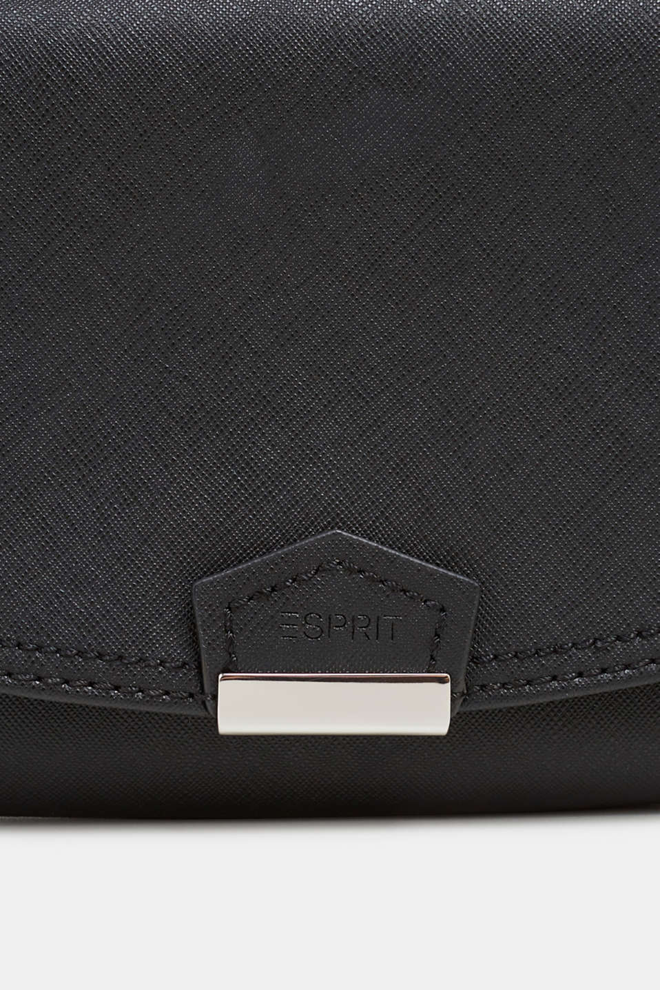 Faux leather clutch, BLACK, detail image number 3