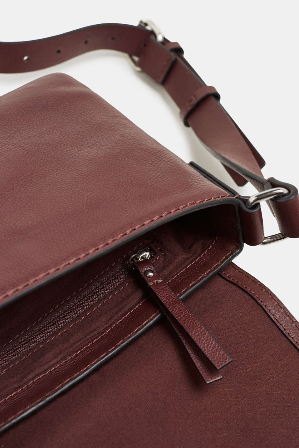 Bags leather, BORDEAUX RED, detail image number 4