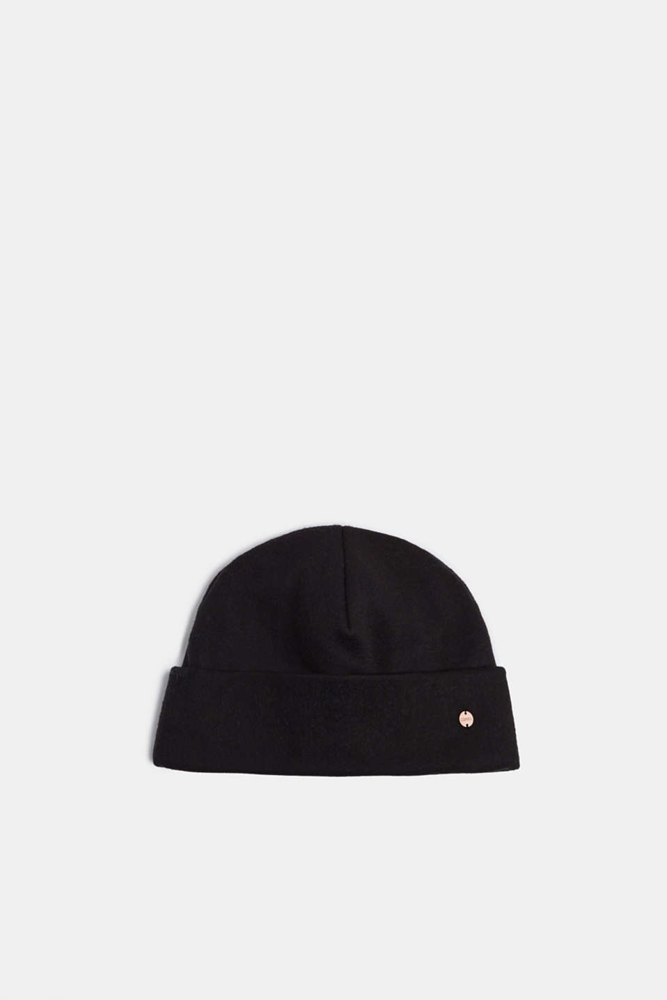 Fleece hat, BLACK, detail image number 0
