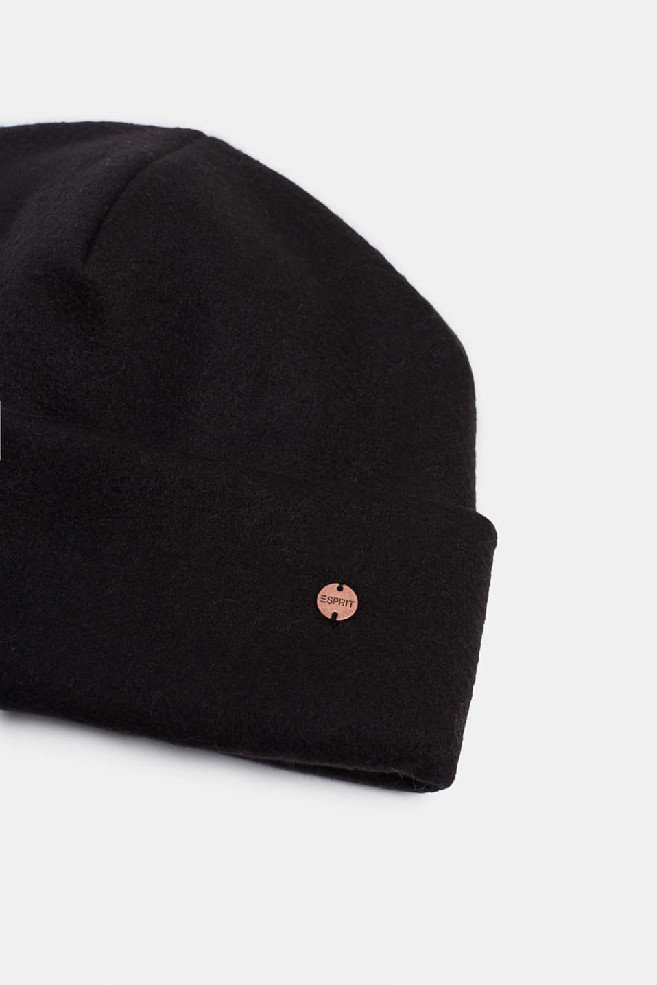 Fleece hat, BLACK, detail image number 1