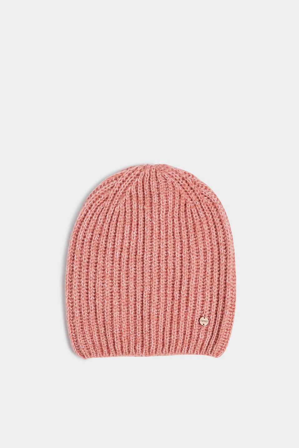 Esprit - Ribbed beanie with wool