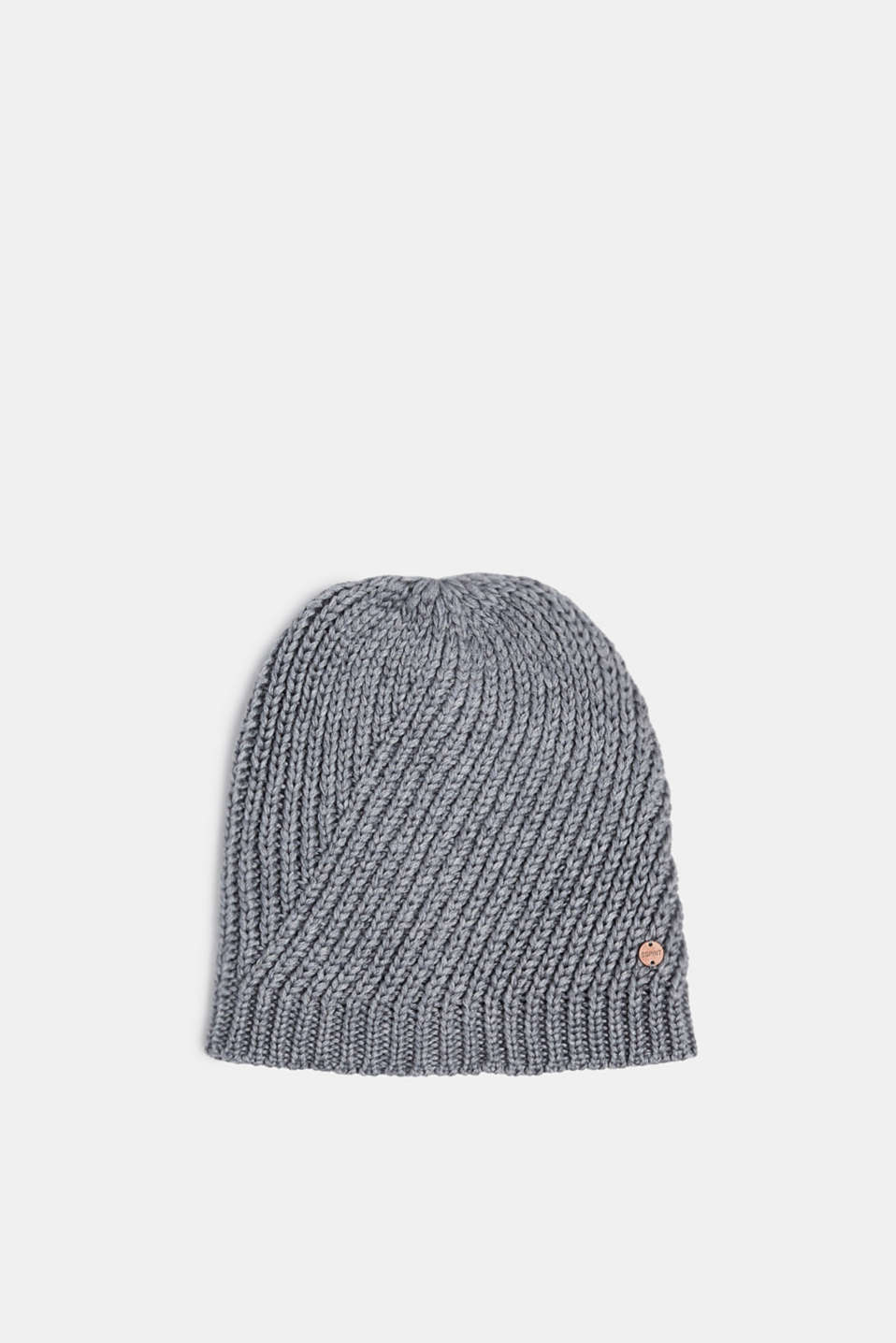 With wool: chunky knit hat, MEDIUM GREY, detail image number 0