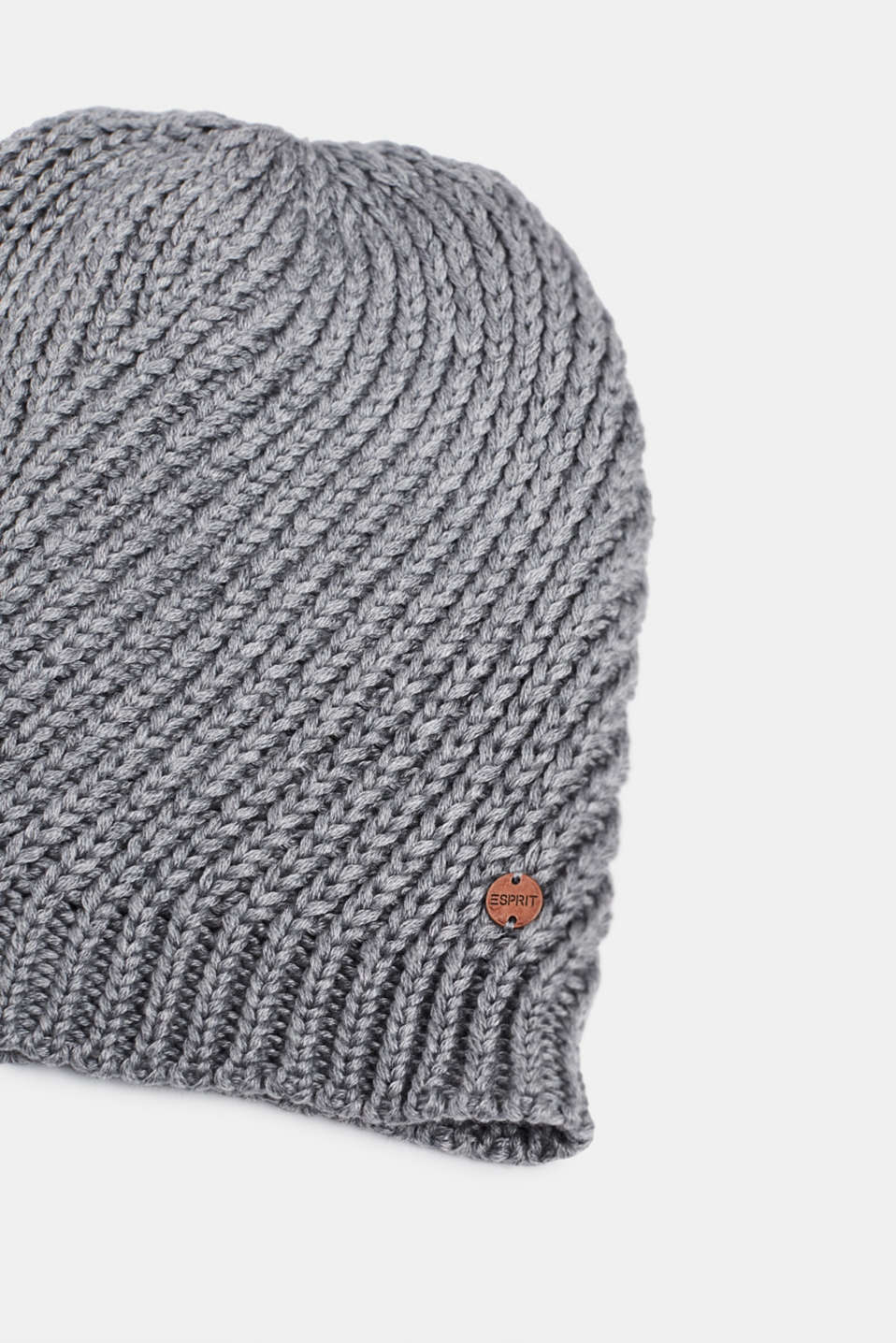 With wool: chunky knit hat, MEDIUM GREY, detail image number 1