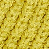 With wool: chunky knit hat, BRASS YELLOW, swatch