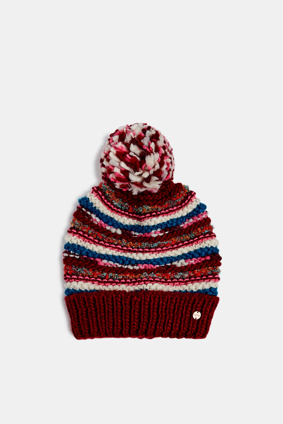 Esprit - Chunky knit hat with a pompom