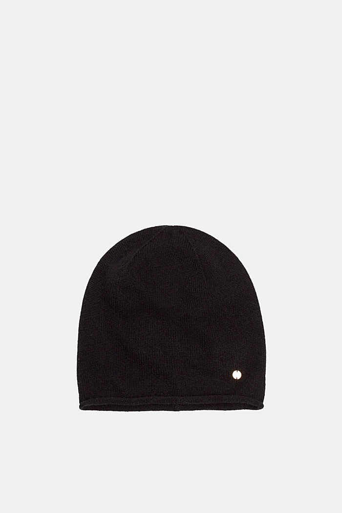 Knitted hat in a cashmere/wool blend
