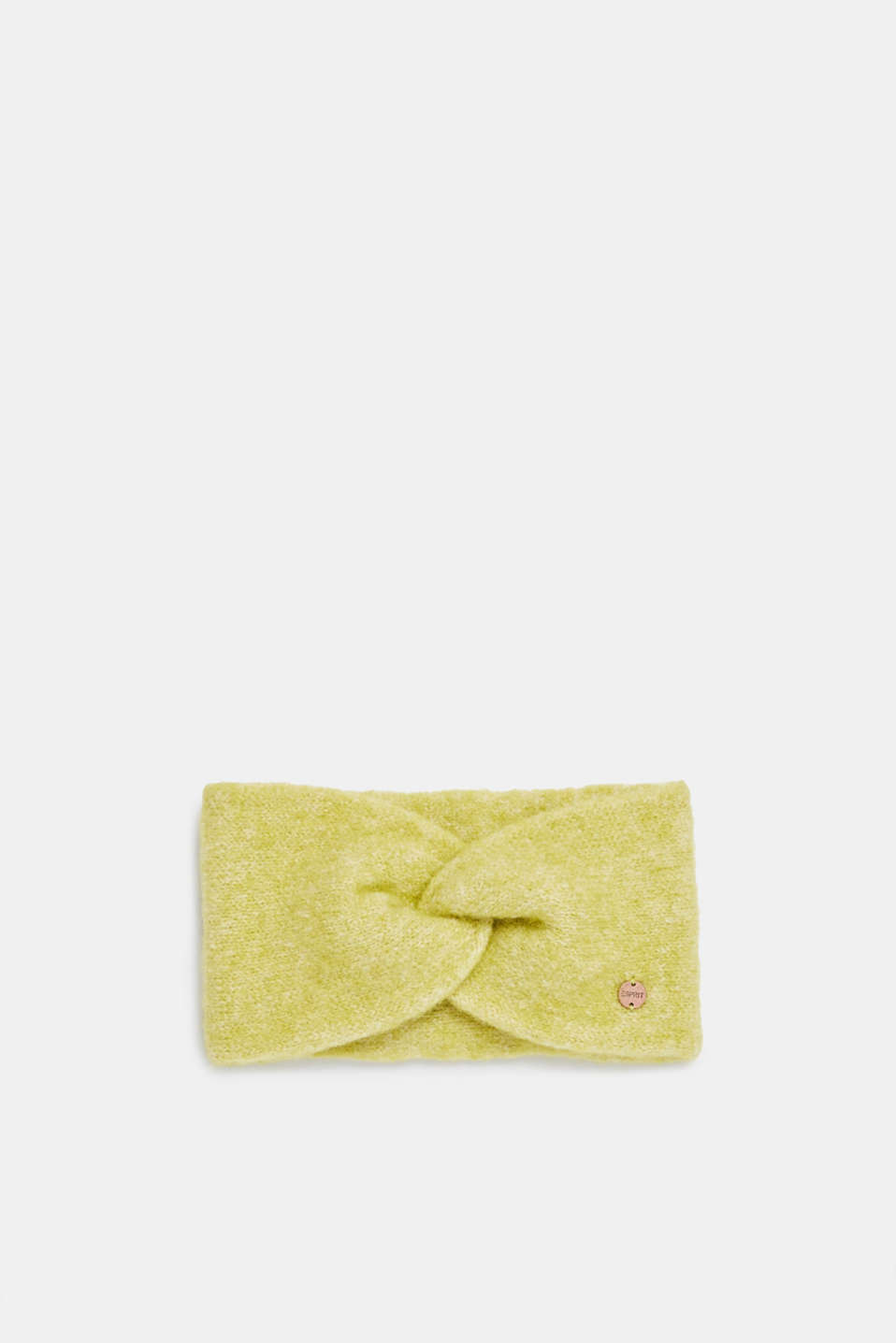 Blended wool: Headband with knot detail, CITRUS GREEN, detail image number 0