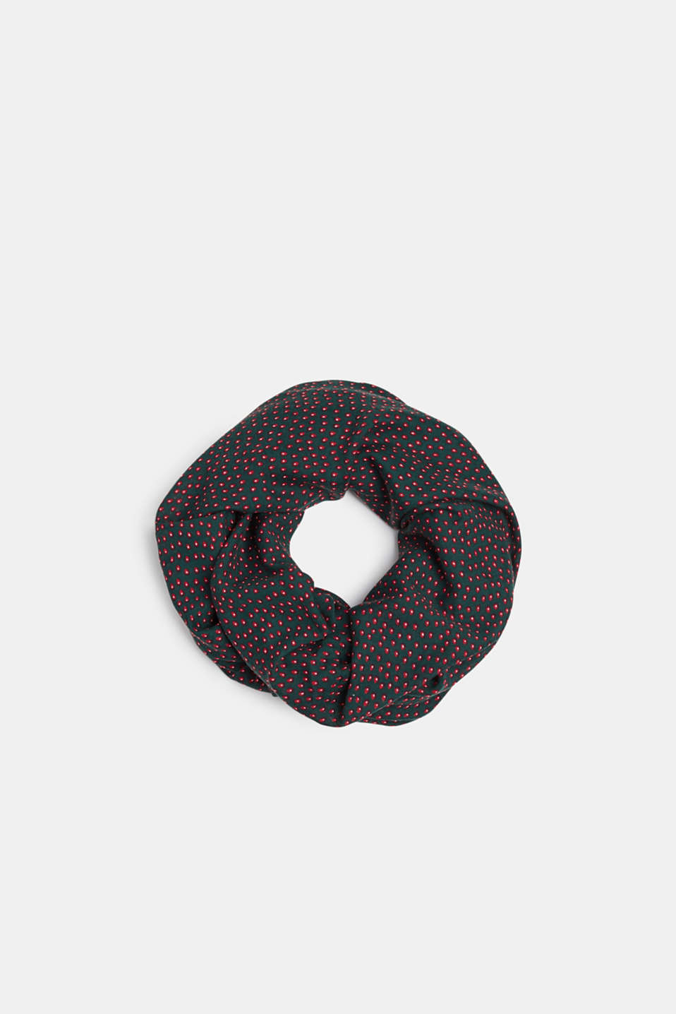 Snood with an all-over print, DARK TEAL GREEN, detail image number 0
