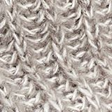With wool: melange snood, LIGHT GREY, swatch