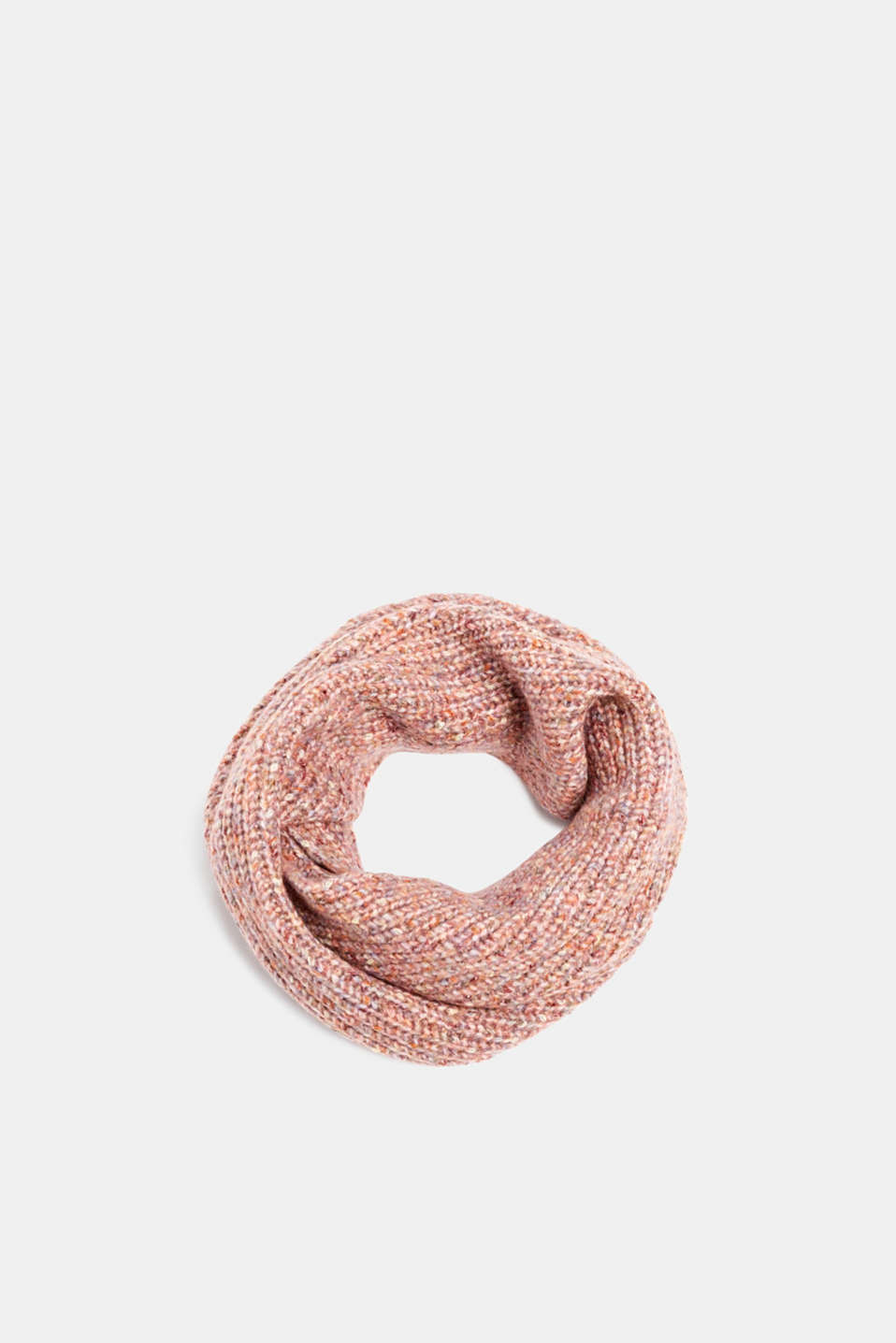 Esprit - With wool: Snood scarf in a multi-coloured look