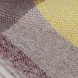 Double-faced scarf with checks, TAUPE, swatch