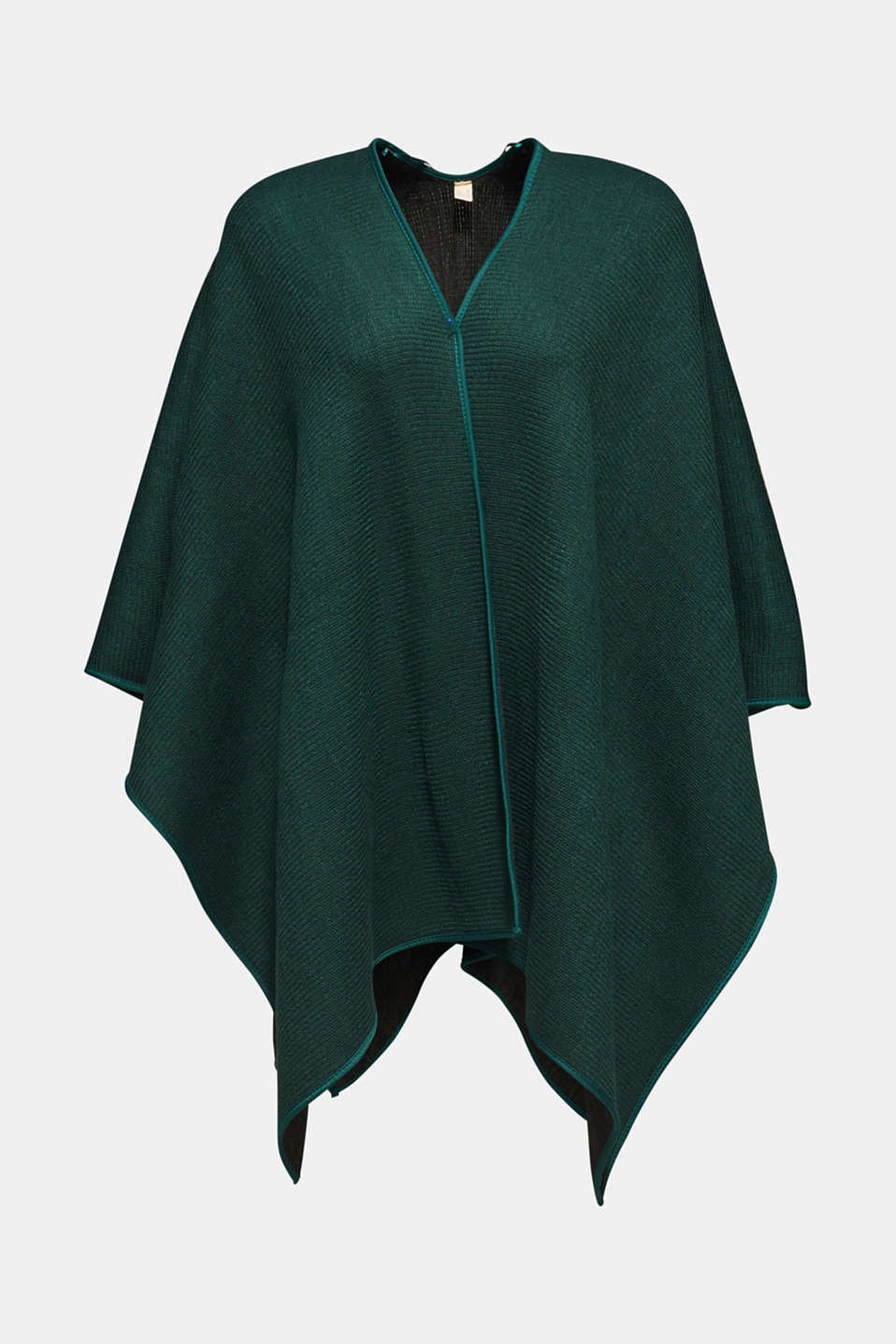Reversible cape, DARK TEAL GREEN, detail image number 2
