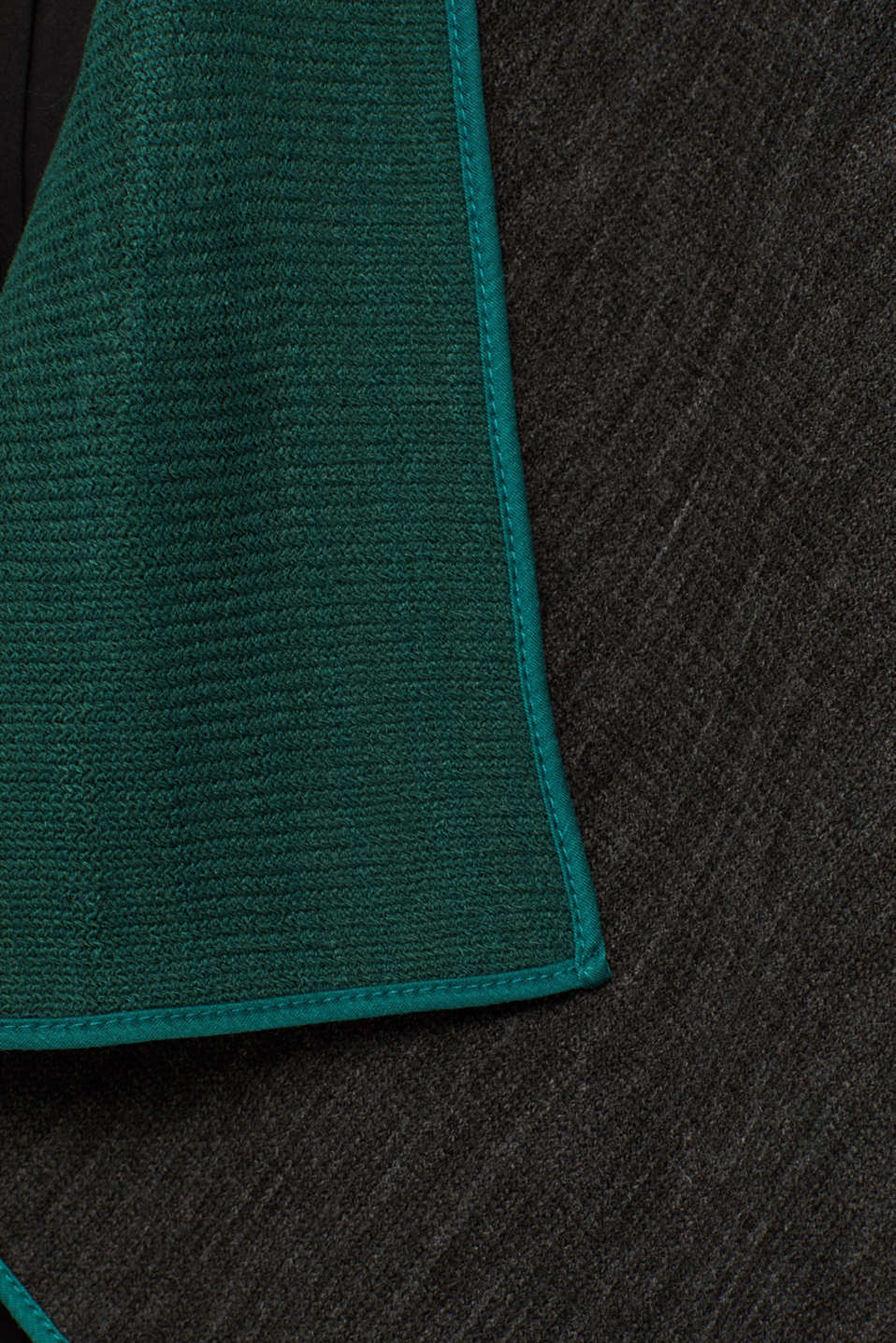 Reversible cape, DARK TEAL GREEN, detail image number 5