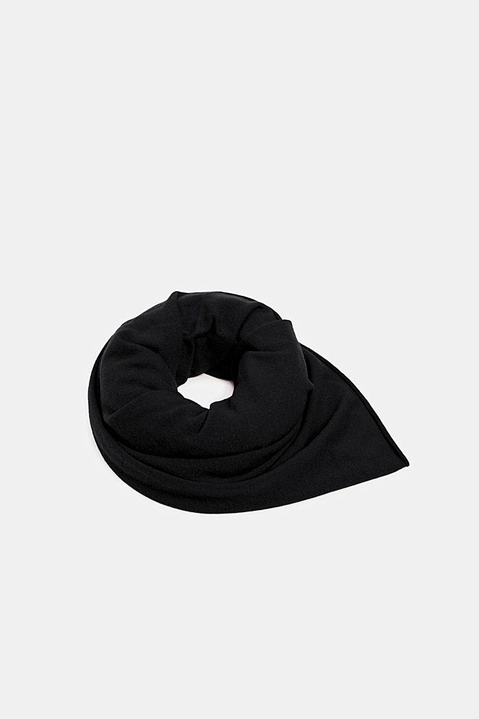 Cashmere/wool blend: fine-knit scarf