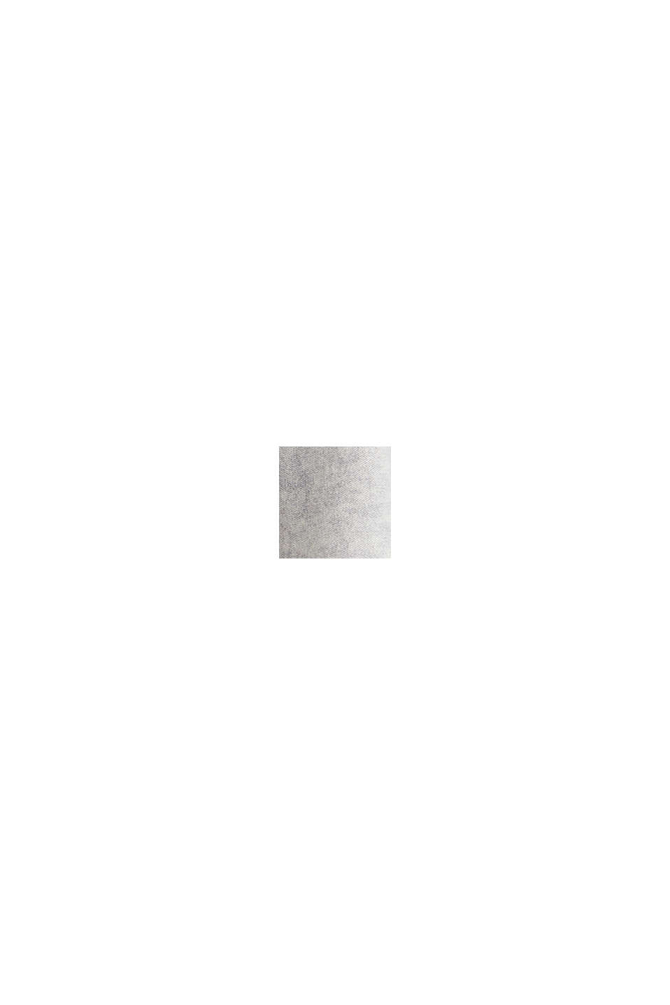 Cashmere/wool blend: fine-knit scarf, PASTEL GREY, swatch