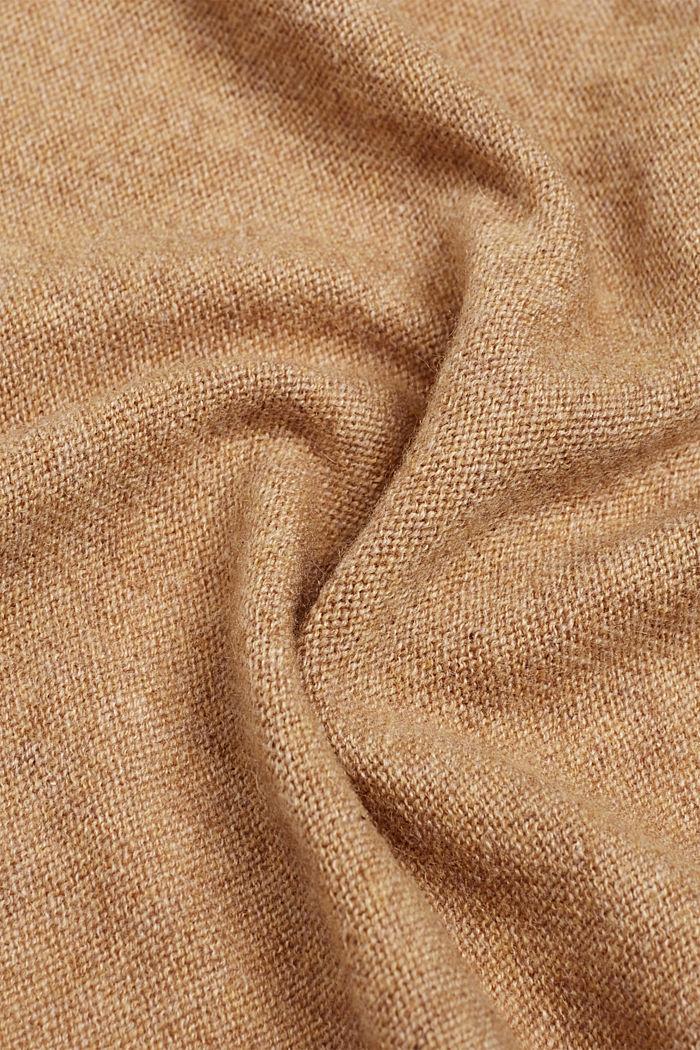 Cashmere/wool blend: fine-knit scarf, CAMEL, detail image number 2