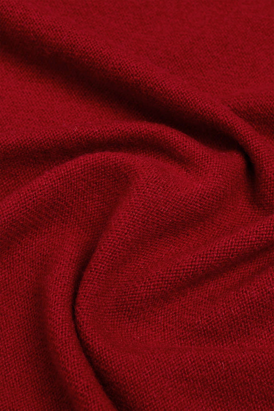 Cashmere/wool blend: fine-knit scarf, RED, detail image number 2