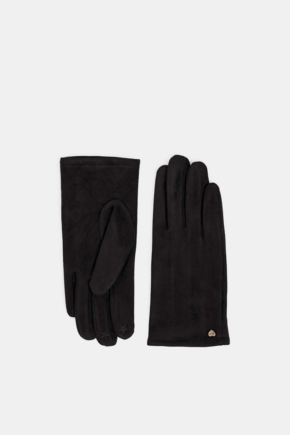 Esprit - Suede touchscreen gloves