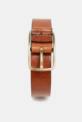 Leather belt, RUST BROWN, detail