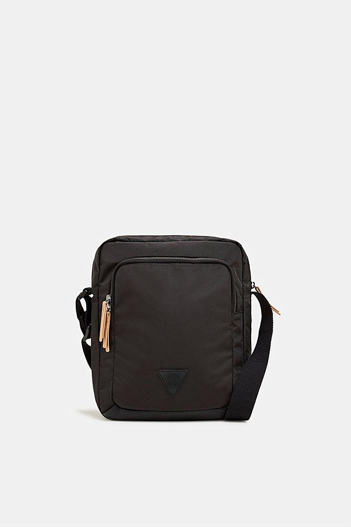 Nylon shoulder bag, BLACK, detail image number 0