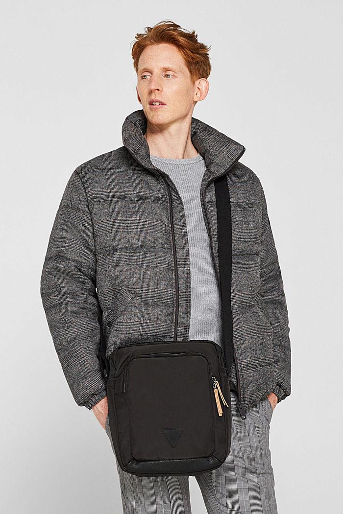 Nylon shoulder bag, BLACK, detail image number 1