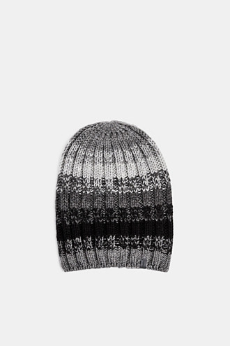 With wool: striped beanie