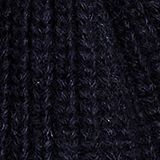 100% merino wool: Beanie with a ribbed texture, NAVY, swatch