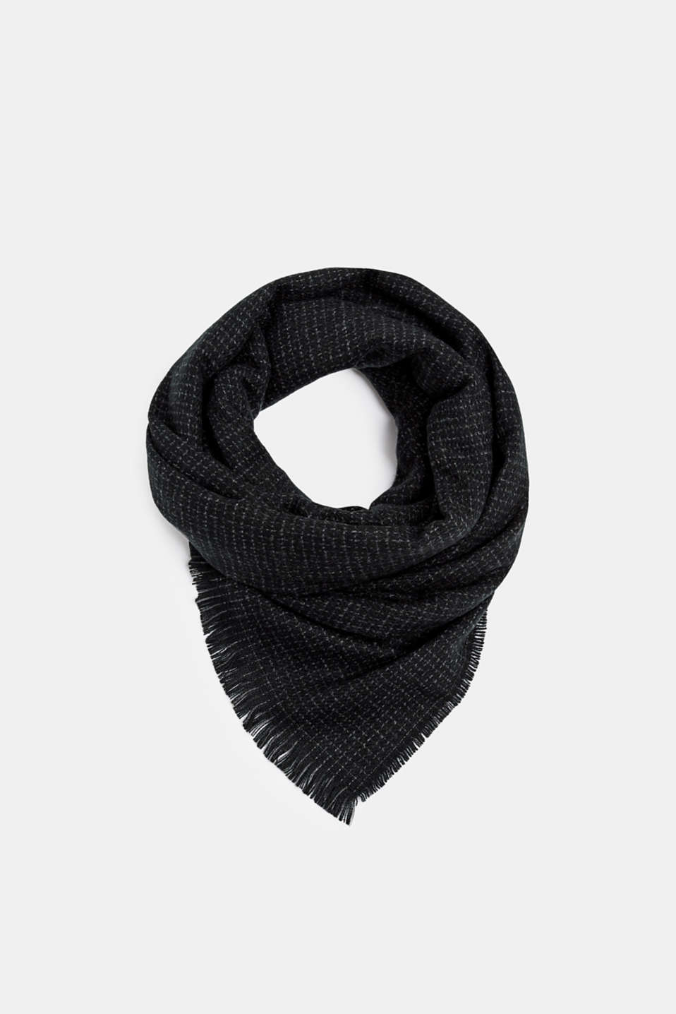 Esprit - Woven scarf with small checks