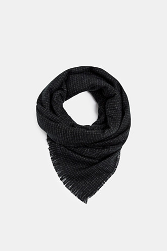 Woven scarf with small checks