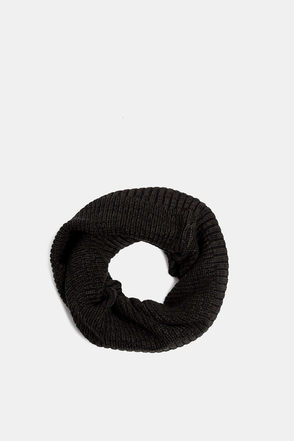 Knit snood, DARK GREEN, detail image number 0