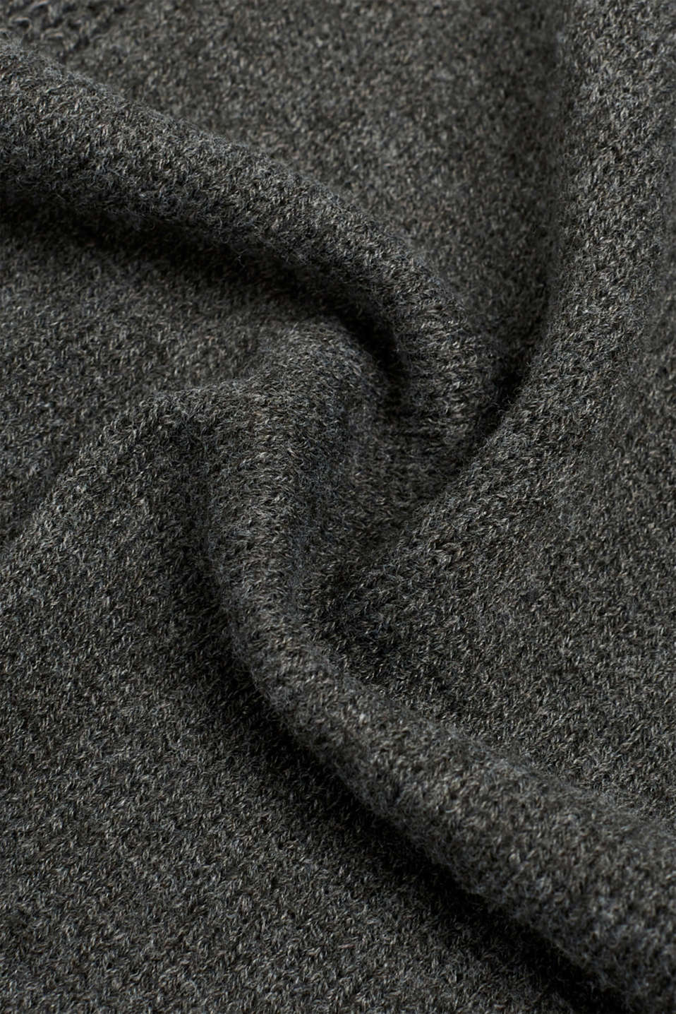 Mixed texture scarf, DARK GREY, detail image number 2