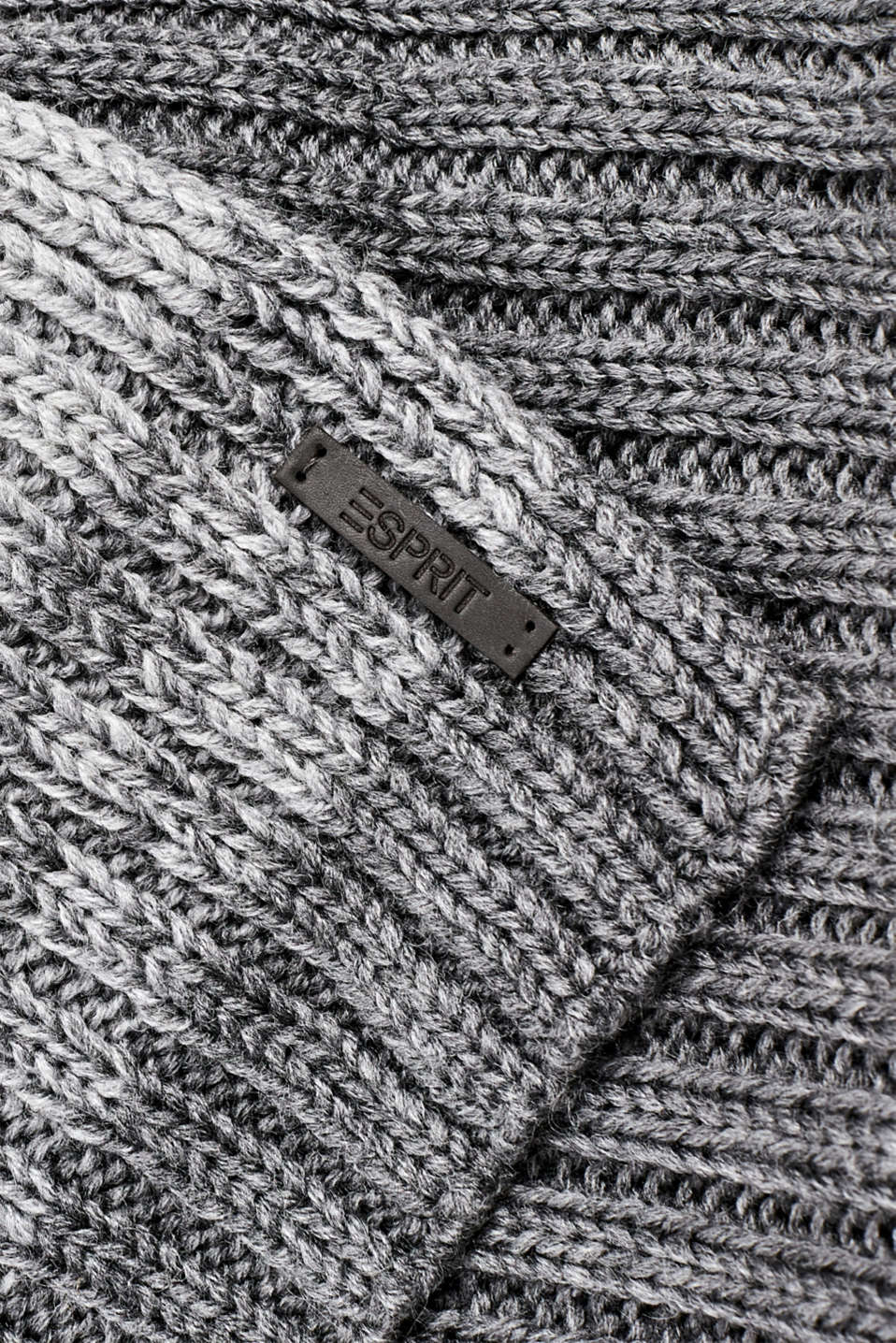 With wool: scarf with stripes, DARK GREY, detail image number 2
