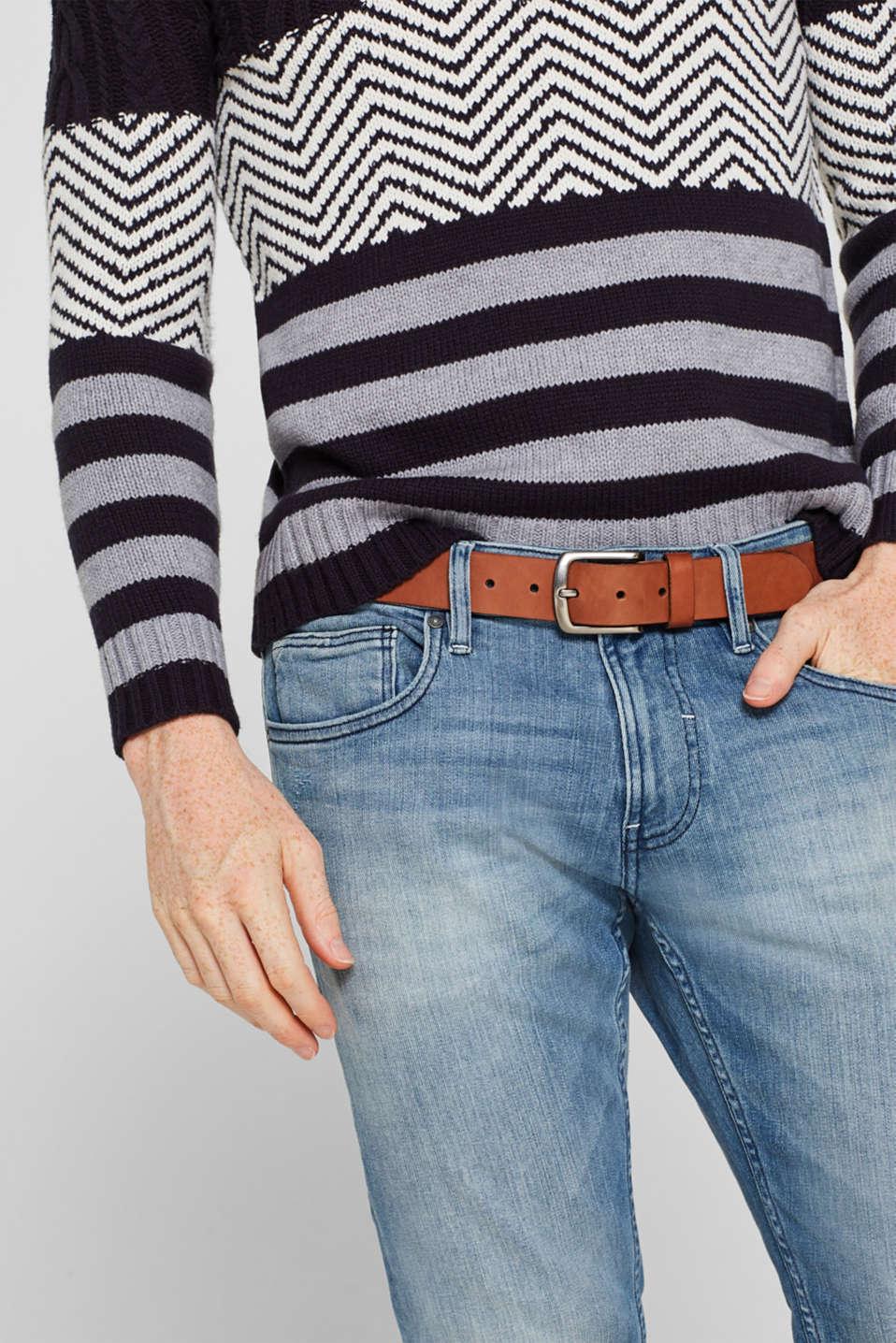 Belts leather, BROWN, detail image number 2
