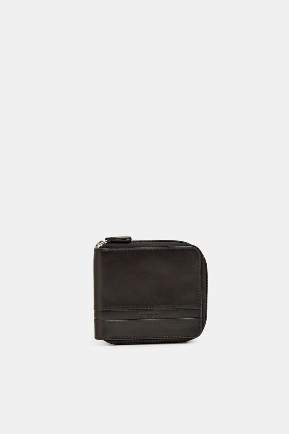 Wallet made of chromium-free leather, BLACK, detail image number 0