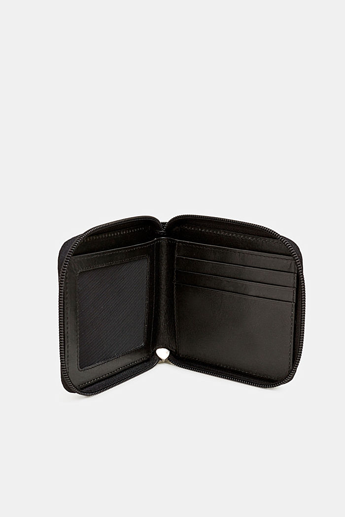 Geldbörse aus chromfreiem Leder, BLACK, detail image number 2