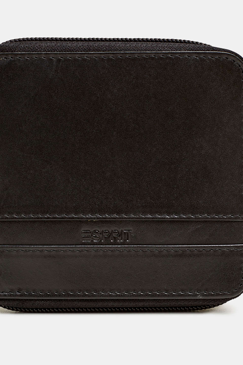 Wallet made of chromium-free leather, BLACK, detail image number 1