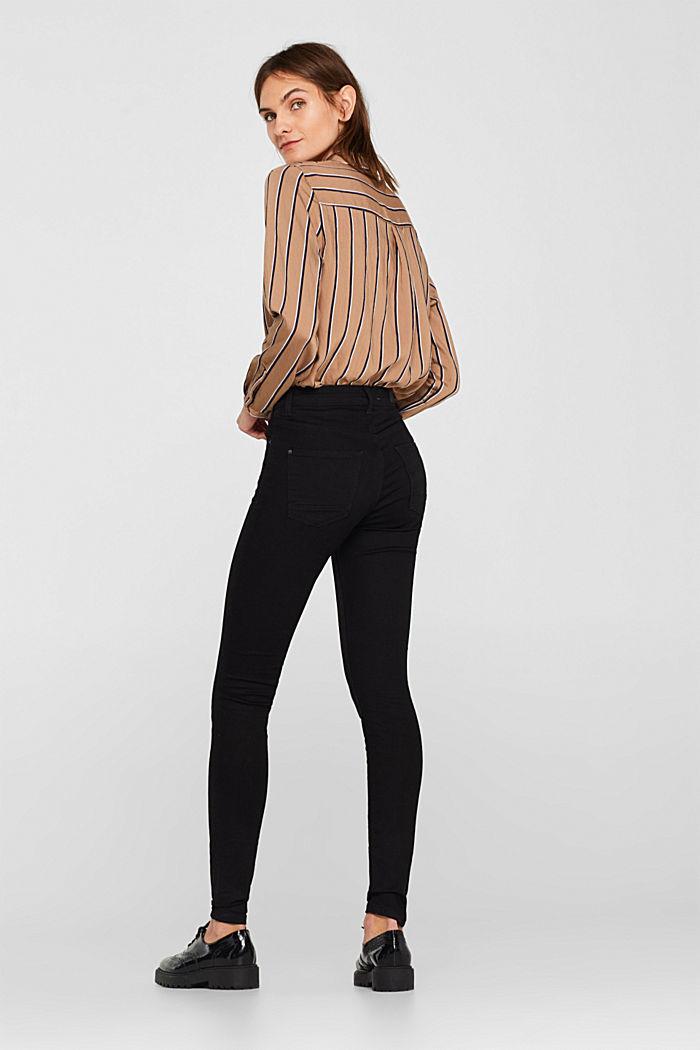 Stretch jeans in deep black denim, BLACK DARK WASHED, detail image number 3