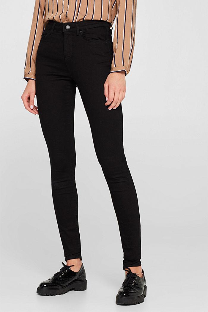 Stretch jeans in deep black denim, BLACK DARK WASHED, detail image number 6