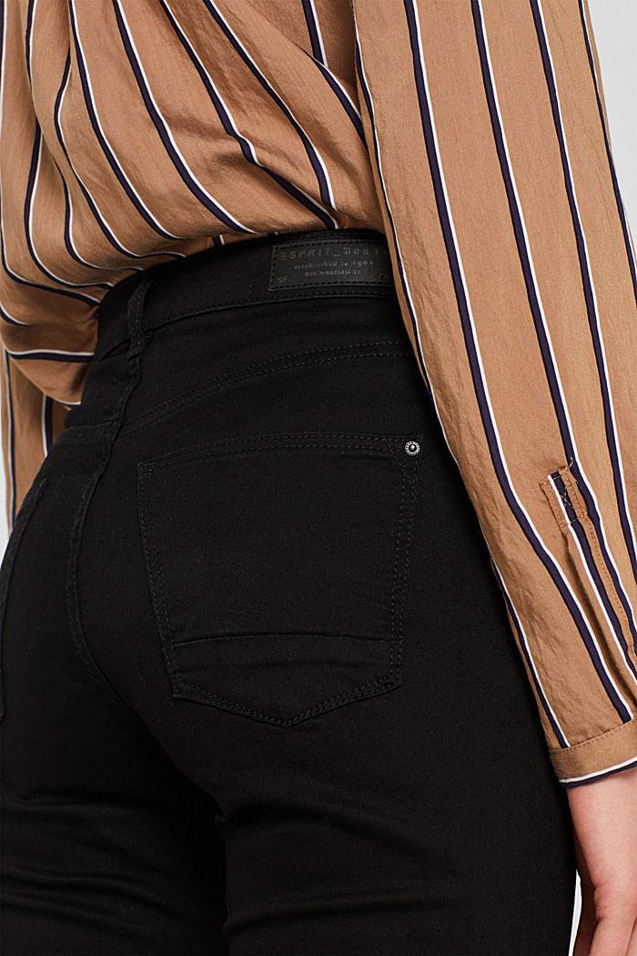 Stretch jeans in deep black denim, BLACK DARK WASHED, detail image number 2