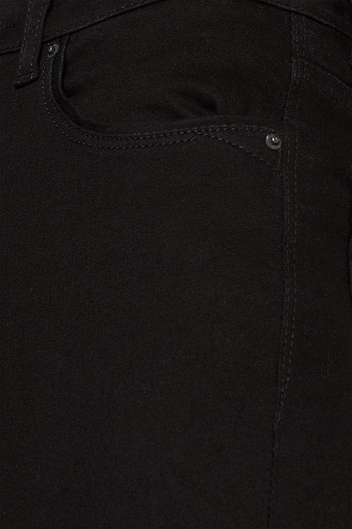 Stretch jeans in deep black denim, BLACK DARK WASHED, detail image number 4