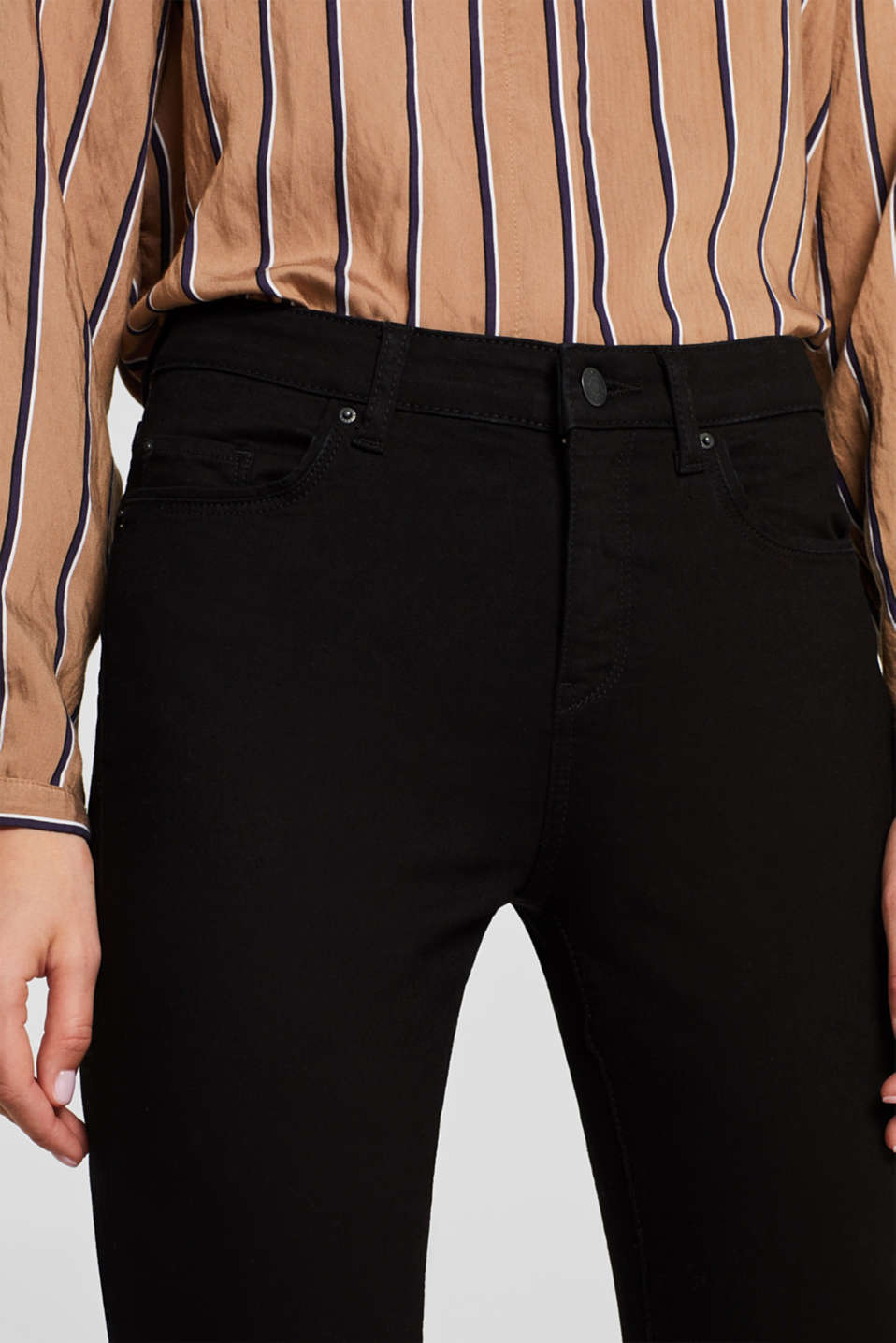 Pants denim, BLACK DARK WASH, detail image number 5