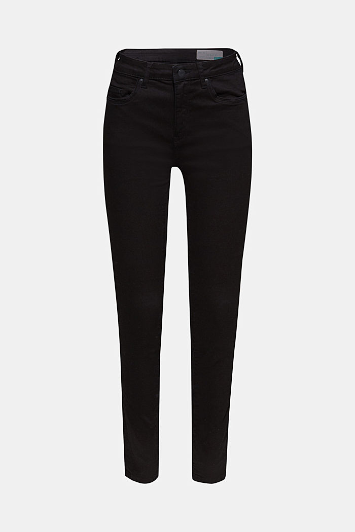 Stretch jeans in deep black denim