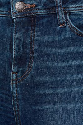 Stretch jeans with worn effects