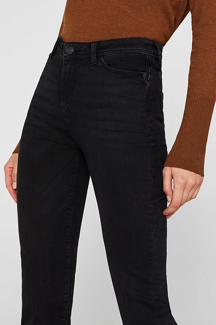 Stretch jeans, recycled, BLACK DARK WASHED, detail image number 2