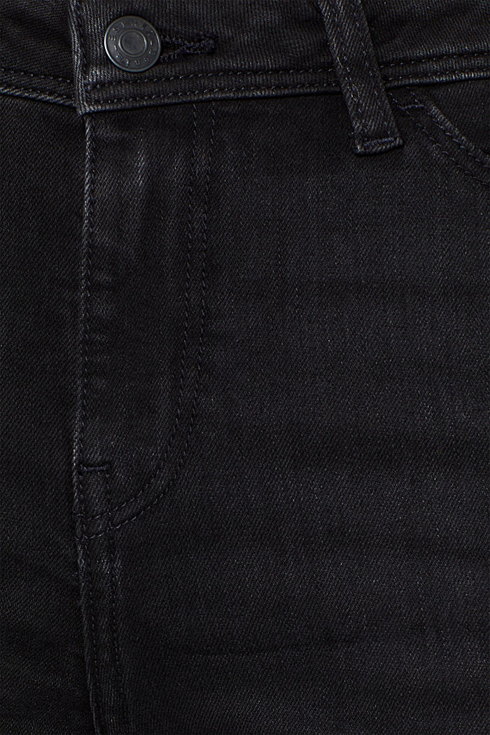 Stretch jeans, recycled, BLACK DARK WASHED, detail image number 4