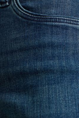 Stretch jeans with decorative piping, BLUE MEDIUM WASH, detail