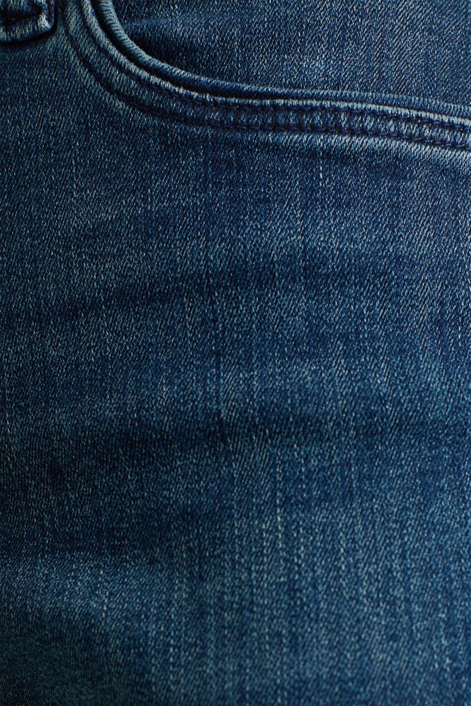 Stretch jeans with decorative piping, BLUE MEDIUM WASH, detail image number 4