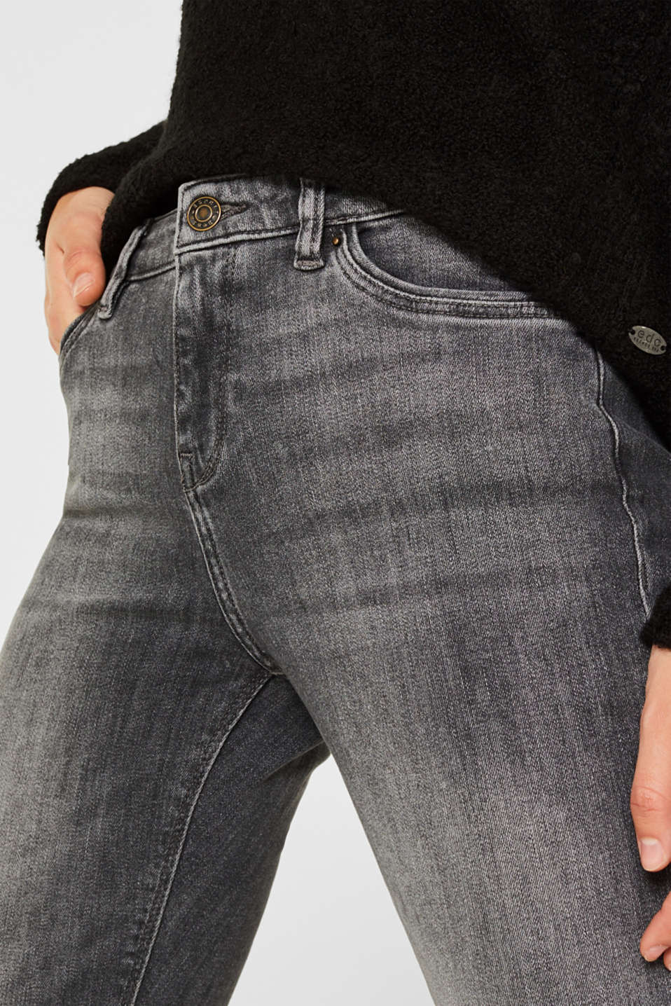 Pants denim, GREY MEDIUM WASH, detail image number 2