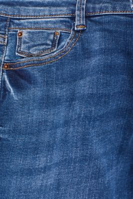 Washed-look stretch jeans, BLUE MEDIUM WASH, detail